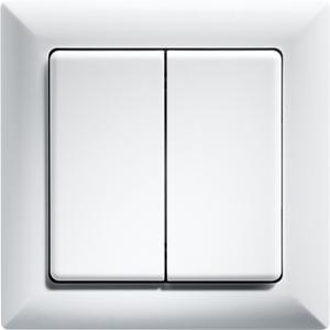 Rocker pushbutton W2T55-wg 55x55mm, pure white glossy