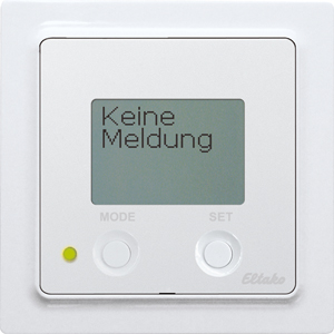 Wireless alarm controller FAC55D/12-24V UC-wg 55x55mm with ­display, pure white glossy