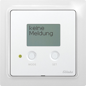 Wireless alarm controller with display FAC65D/12-24V UC-wg, pure white glossy