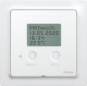 Wireless temperature controller Air+Floor FTAF55D/230V-wg, pure white glossy