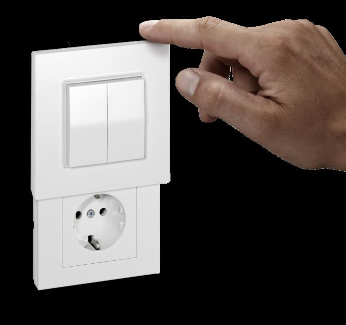 Versteckdose (Hidden Socket) with EnOcean switch