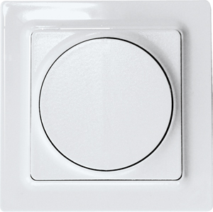 Wireless 2-way pushbutton F2T55ER-wg, pure white glossy