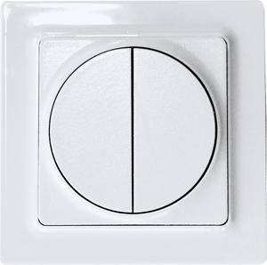 Wireless 4-way pushbutton F4T55ER-wg, pure white glossy
