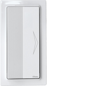 Wireless ellbow pushbutton FET55E-wg, pure white glossy