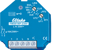 Eltako Wireless actuator multifunction impulse switch FMS61NP-230V