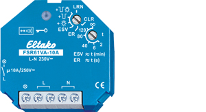 Wireless actuator impulse switch with integr. relay function with power measurement FSR61VA-10A