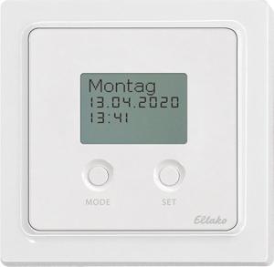 Timer with display FSU65D/230V-wg, pure white glossy