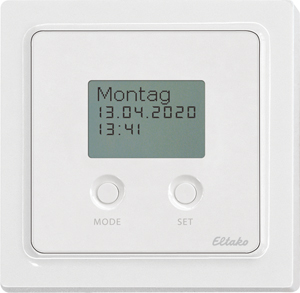 Timer with display FSU65D/12-24V UC-wg, pure white glossy