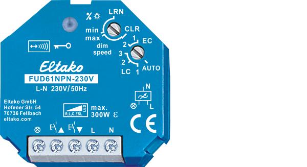 Wireless actuator universal dimmer switch FUD61NPN-230V
