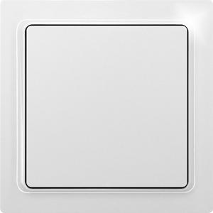 Eltako Wireless flat pushbutton F2FT65-wg, pure white glossy