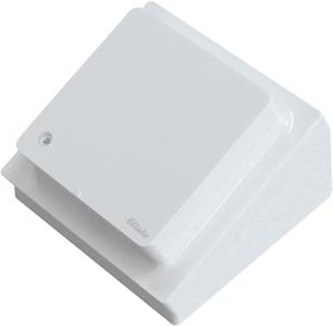 Wireless CO2 desktop sensor temperature+humidity sensor FCO2TS-wg, pure white glossy
